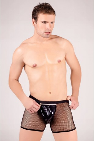 Schwarze Netz-Boxer-Shorts von Andalea Dessous
