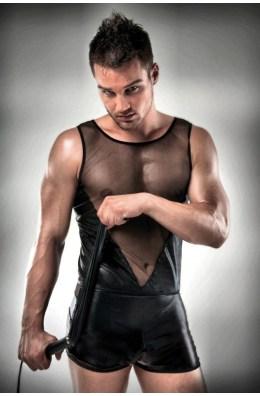 Wetlook Männer Set | Shirt und Boxershorts mit Netzeinsatz | Dessous
