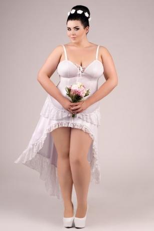 Weißes langes Kleid von Andalea Dessous