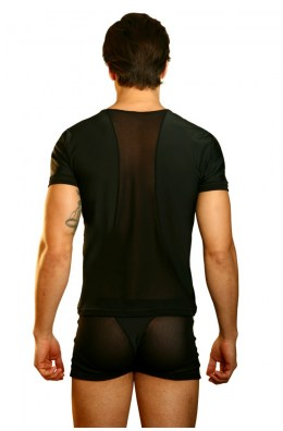 Schwarzes Herren T-Shirt Open Spirit von Look Me