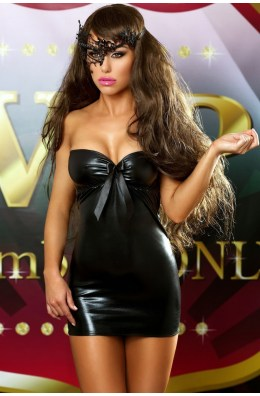 Schwarzes Wetlook Kleid von Lolitta Dessous