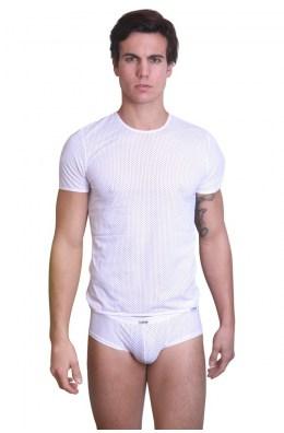 Weißes T-Shirt the Shadow von Look Me