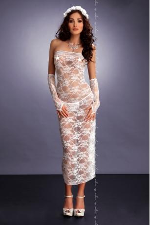 Weißes Kleid von MeSeduce Dessous