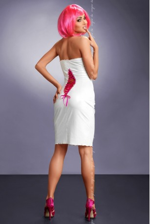 Weißes Wetlook-Kleid von MeSeduce Dessous