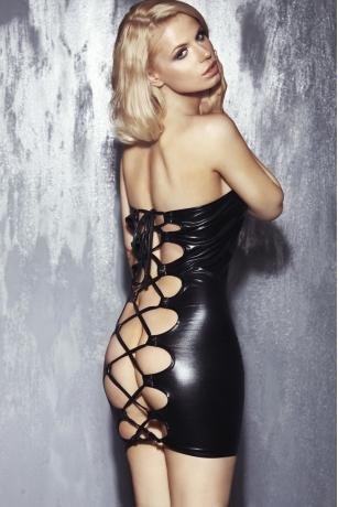 Schwarzes Schlauch Kleid Oxana