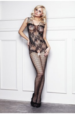 Ouvert Bodystocking in Schwarz