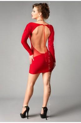 Rotes Kleid mit T-String von MeSeduce Dessous