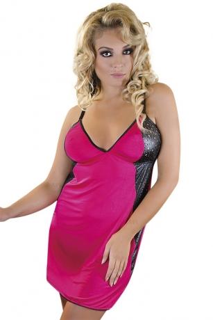 Pink/schwarzes Negligee von Andalea Dessous