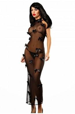 Schwarzes langes Kleid von Lolitta Dessous
