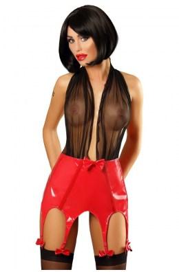 Schwarz/rotes Strapskleid Set von Lolitta