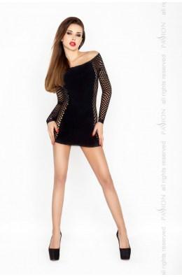 Elegangtes schwarzes Minikleid mit Netzeinsätze von Passion Dessous