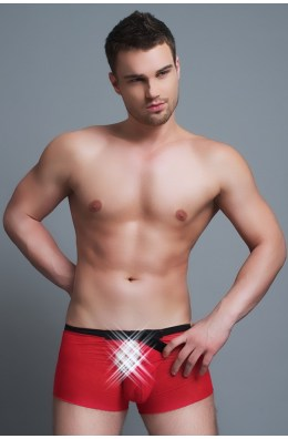 Boxershorts in Rot - mit Frontöffnung