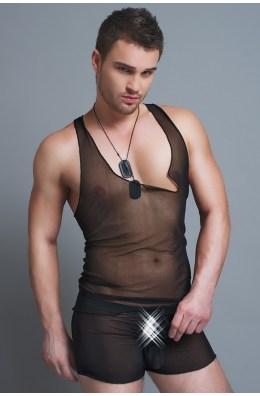 Boxershorts in Schwarz (transparent) für Männer