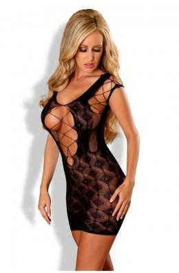 Schwarzes Netz-Kleid (aufsehenerregend) von Provocative Dessous