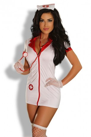 9-teilges Krankenschwester Outfit von Provocative