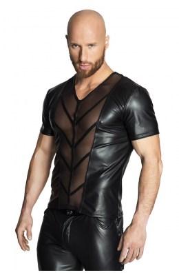 Schwarzes Shirt in Wetlook Optik