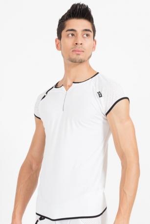 Weiß/schwarzes V-Shirt Mixing von Look Me