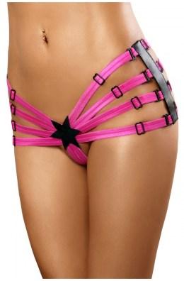 Schwarz/pinker extravanger Panty