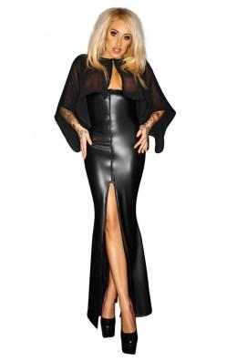 Schwarzes langes Kleid von Noir Handmade