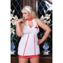 Krankenschwester Outfit - leicht transparent