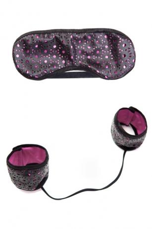 Erotik Set mit Maske und Handfesseln