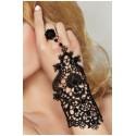 Schwarze Handschuhe von 7-Heaven