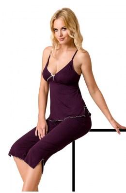 Violettes Nachtkleid - Pyjama