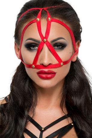 Rote Kopfmaske