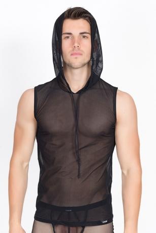 Schwarzes V-Shirt Malibu von Look Me