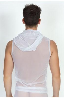 Weißes V-Shirt Malibu 2 von Look Me