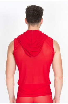 Rotes V-Shirt Malibu von Look Me