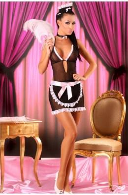 Erotisches Dienstmädchen Outfit - Minikleid