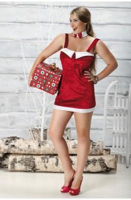Weihnachtskleid in Rot mit Schnürung