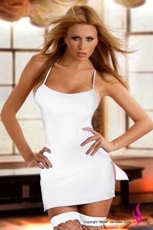 Minikleid in Weiß - Rückenfrei