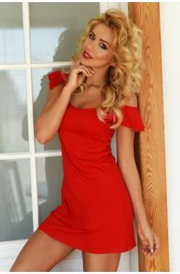 Rotes romantisches Nachtkleid