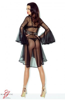 Atemberaubender schwarzer Kimono