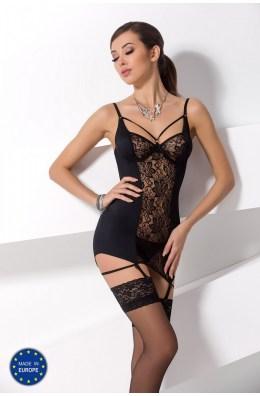 Schwarzes Paulina Chemise von Passion Erotic Line