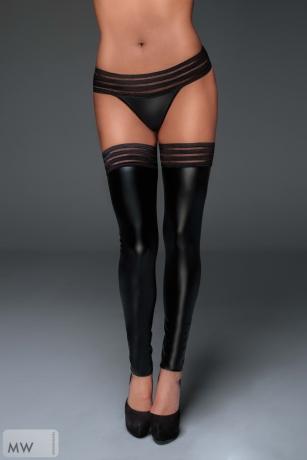 Powerwetlook Stockings mit elastischen Bändern