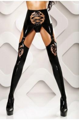 Schwarze Horny Stockings mit Strapsgürtel
