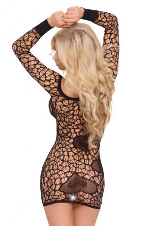 Schwarzes Netzkleid von Softline Bodystockings Collection
