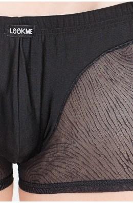 Schwarze ausgefallene Boxershorts von Look Me