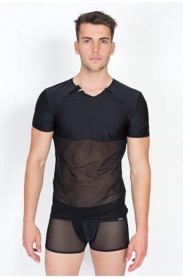 Schwarzes T-Shirt von Look Me