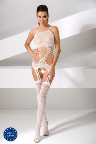 Ouvert Catsuit in Weiß