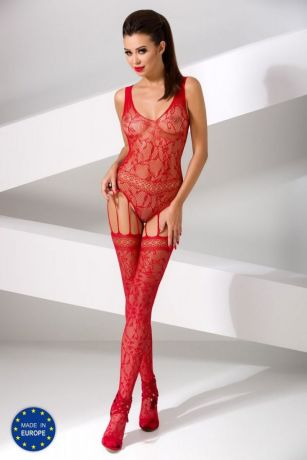 Roter Ouvert-Catsuit von Passion