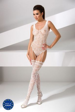Weißer ouvert Catsuit