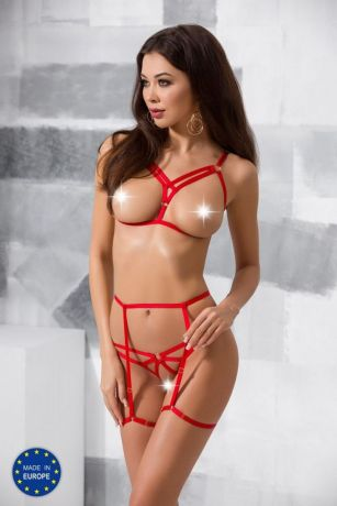 Rotes ouvert Harness-Set