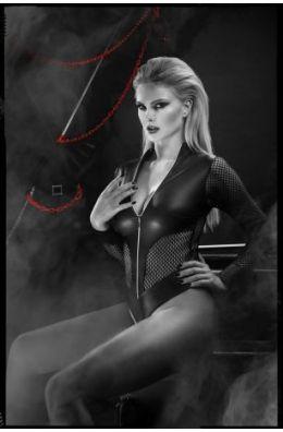 Schwarzer Body für Frauen die gerne ihre dominante Seite zeigen
