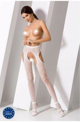 Blickdichte ouvert Strumpfhose in weiß