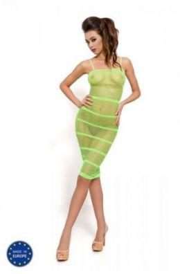 Grünes Minikleid - Netzkleid