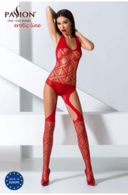 Roter Bodystocking | Leichter Catsuit im sportivem Look